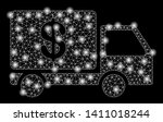 bright mesh cash delivery with... | Shutterstock .eps vector #1411018244