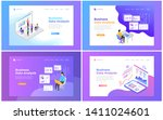 set of web page design... | Shutterstock .eps vector #1411024601