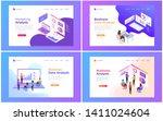 set of web page design... | Shutterstock .eps vector #1411024604