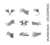 race flag vector icon symbols.... | Shutterstock .eps vector #1411024631