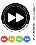 forward button retro colors | Shutterstock .eps vector #141103024