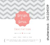 vintage card  for invitation or ... | Shutterstock .eps vector #141104539