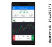 mock up of stock market for...