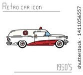color vector icon american... | Shutterstock .eps vector #1411056557