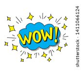 bubbles speech. illustration.... | Shutterstock .eps vector #1411066124