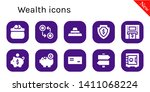 wealth icon set. 10 filled... | Shutterstock .eps vector #1411068224