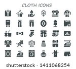 cloth icon set. 30 filled cloth ... | Shutterstock .eps vector #1411068254