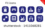 fit icon set. 10 filled fit...   Shutterstock .eps vector #1411068281