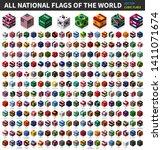 all national flag of the world .... | Shutterstock .eps vector #1411071674