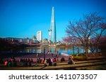 seoul  south korea   april 3 ...   Shutterstock . vector #1411073507