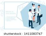 teamwork of doctors.... | Shutterstock .eps vector #1411083767