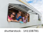family vacation  rv  camper ... | Shutterstock . vector #141108781