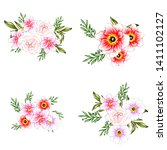 flowers set. collection of... | Shutterstock . vector #1411102127