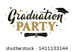 graduation party greeting sign... | Shutterstock .eps vector #1411133144
