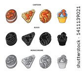 vector design of confectionery... | Shutterstock .eps vector #1411139021