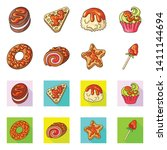 vector design of confectionery... | Shutterstock .eps vector #1411144694