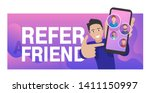 refer a friend   referral... | Shutterstock .eps vector #1411150997