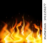 abstract burning fire flame on...   Shutterstock .eps vector #1411153277