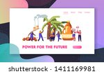 palm oil producing industry....   Shutterstock .eps vector #1411169981