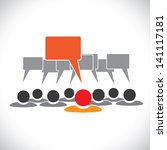 concept graphic  leader  ... | Shutterstock . vector #141117181