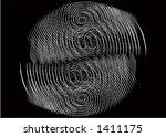 retro dot background   vector... | Shutterstock .eps vector #1411175