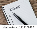 Wish List Concept  Pen On Whit...
