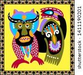 original ukrainian carpet... | Shutterstock .eps vector #1411190201