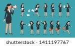 young businesswoman character... | Shutterstock .eps vector #1411197767