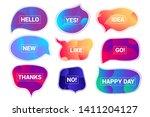 abstract futuristic speech... | Shutterstock .eps vector #1411204127