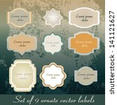 vintage labels | Shutterstock .eps vector #141121627