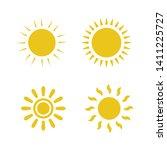 flat sun icon. sun pictogram....
