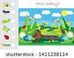 how many counting game  glade... | Shutterstock .eps vector #1411238114