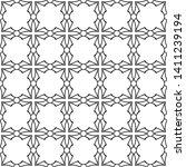seamless monochrome interlaced... | Shutterstock .eps vector #1411239194