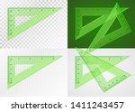 school supplies. measuring tool.... | Shutterstock .eps vector #1411243457