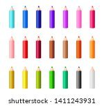 big collection of rainbow... | Shutterstock .eps vector #1411243931