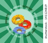 donut label green | Shutterstock .eps vector #141124819