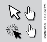 set of flat modern cursor icons | Shutterstock .eps vector #1411259591