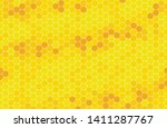 yellow monochrome hexagon... | Shutterstock .eps vector #1411287767