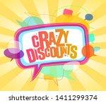 crazy discounts poster design...   Shutterstock .eps vector #1411299374