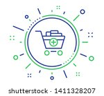 add to shopping cart line icon. ... | Shutterstock .eps vector #1411328207