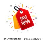 sale tag. save 10  off. sale... | Shutterstock .eps vector #1411328297