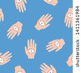 hands with all seeing eyes....   Shutterstock . vector #1411361984