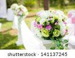 beautiful wedding decorations | Shutterstock . vector #141137245