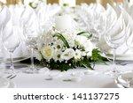 beautiful wedding decorations | Shutterstock . vector #141137275