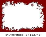 red stars grunge frame   vector. | Shutterstock .eps vector #14113741