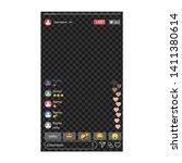 live broadcast template. vector ... | Shutterstock .eps vector #1411380614