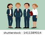 office workers. corporate dress.... | Shutterstock .eps vector #1411389014