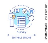 survey concept icon. rating... | Shutterstock .eps vector #1411404104