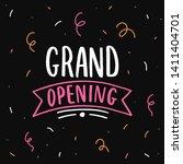 grand opening hand drawn... | Shutterstock .eps vector #1411404701