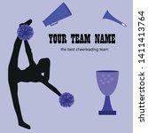 silhouette cheerleader girls... | Shutterstock .eps vector #1411413764